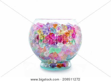 Aquarium Glass Stone For Decoration In Aquarium Tank