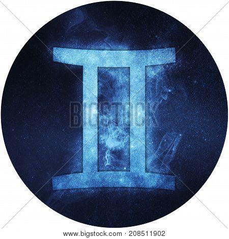 Gemini Zodiac Sign Isolated On White Background