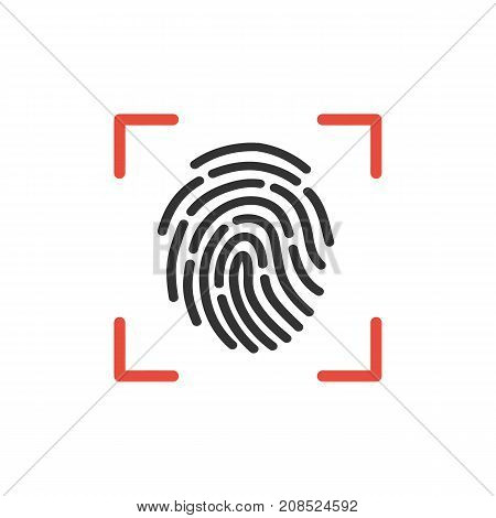 Fingerprint element. Thumbprint isolated on background. Fingermark symbols. Vector stock.