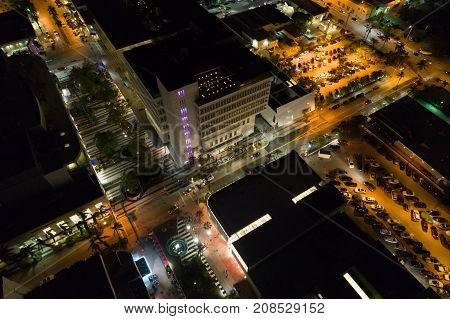 Aerial Photo Of Lincoln Road Mall Miami Beach