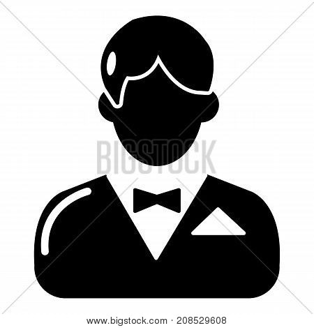 Croupier icon. Simple illustration of croupier vector icon for web