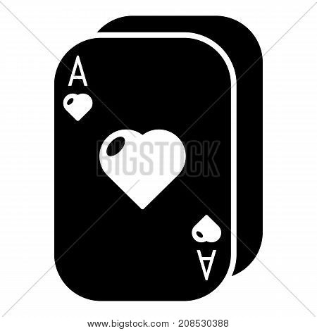 Poker cards icon. Simple illustration of poker cards vector icon for web