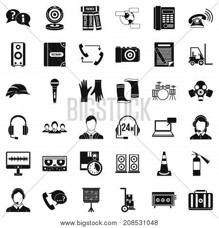 All day icons set. Simple style of 36 all day vector icons for web isolated on white background