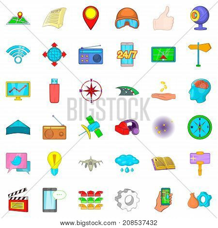 Mark icons set. Cartoon style of 36 mark vector icons for web isolated on white background