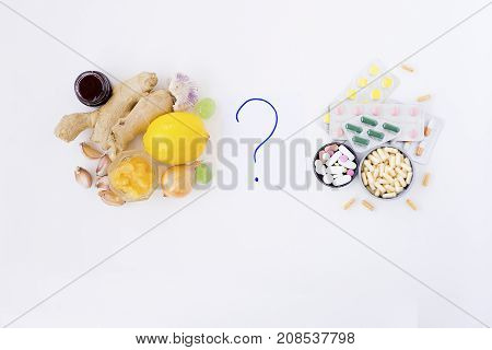 Assorted pharmaceutical medicine pills, tablets and capsules