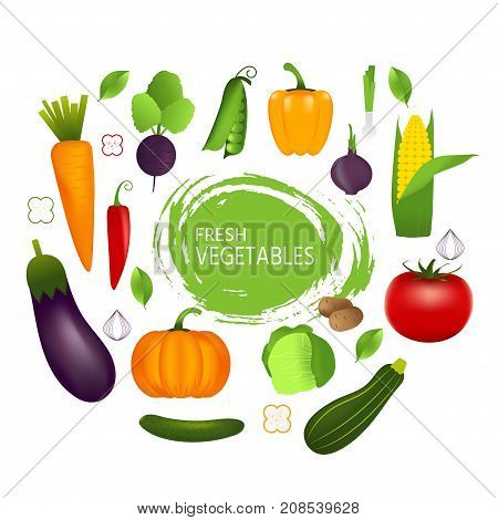 Isolated Healthy Vegetables