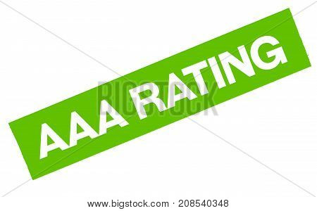 AAA rating sticker. Authentic design graphic stamp.