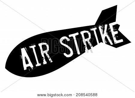AIR STRIKE sticker. Authentic design graphic stamp.