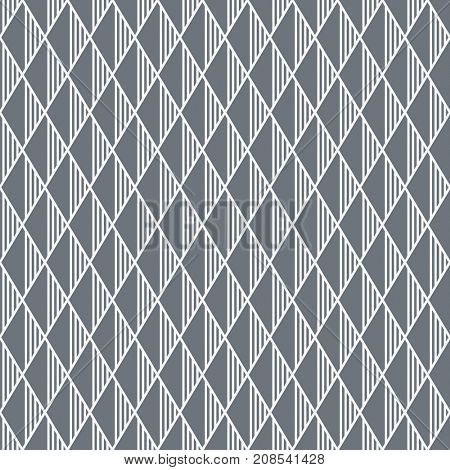 Seamless textured geometric diamonds pattern.