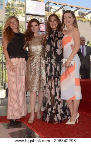 LOS ANGELES - OCT 6:  Conie Britton, Debra Messing, Mariska Hargitay, Sophia Bush_ at the Debra Messing Star Ceremony at the Hollywood Walk of Fame on October 6, 2017 in Los Angeles, CA