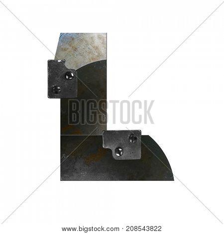 Metal alphabet letter L
