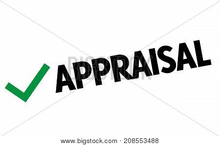 APPRAISAL sticker. Authentic design graphic stamp. Original series