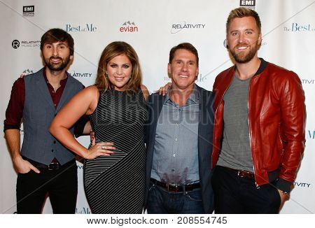(L-R) Dave Haywood, Hillary Scott, Nicholas Sparks & Charles Kelley attend