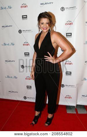 Singer Lauren Alaina attends the Nashville premiere screening for