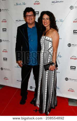 Songwriter Monty Powell (L) and Anna Wilson attend