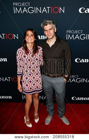 NEW YORK- OCT 24: Director Max Joseph (R) and Priscilla Joseph attend the premiere of Canon's 'Project Imaginat10n' Film Festival at Alice Tully Hall on October 24, 2013 in New York City.