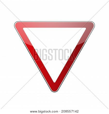 Yield Triangle Road Sign