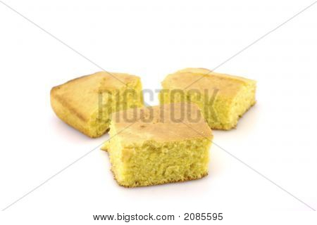 Cornbread Isolated On White