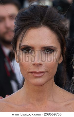 CANNES, FRANCE - MAY 11: Victoria Beckham attends the 'Cafe Society' premiere and the Opening Night Gala . 69th annual Cannes Film Festival at the Palais des Festivals on May 11, 2016 in Cannes