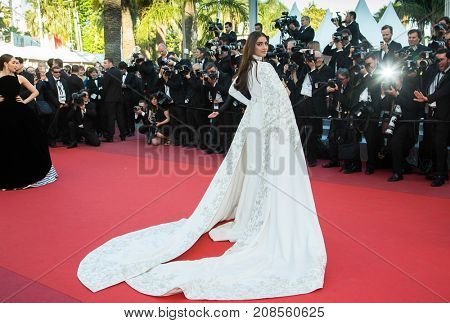 Sonam Kapoor  attends the 'From The Land Of The Moon (Mal De Pierres)' premiere at the 69th Festival de Cannes.