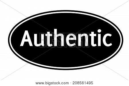 AUTHENTIC sticker. Authentic design graphic stamp. Original series
