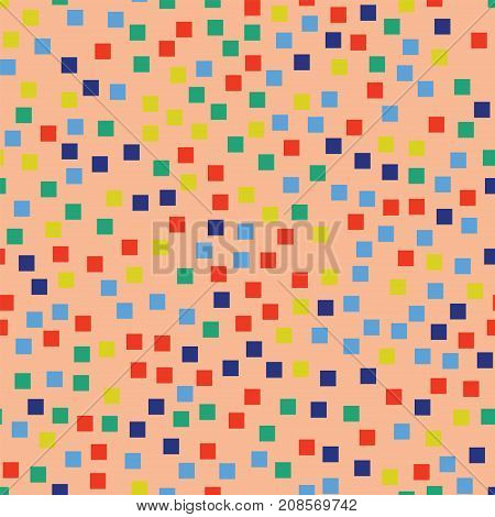 Abstract Squares Pattern. Pink Geometric Background. Appealing Random Squares. Geometric Chaotic Dec