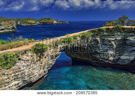 View of Angels Billabong from Nusa Penida