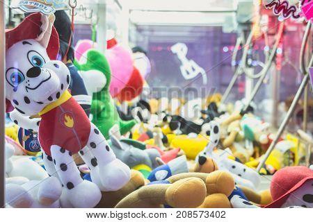 Claw Machine Allows To Win Stuffed Animals