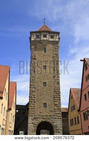 Röder Gate In Rothenburg Ob Der Tauber