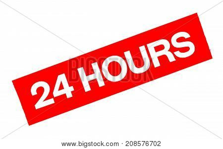 24 hours sticker. Authentic design graphic stamp