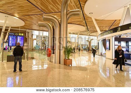 Departure Hall Of Menara Airport In Marrakesh. Morocco