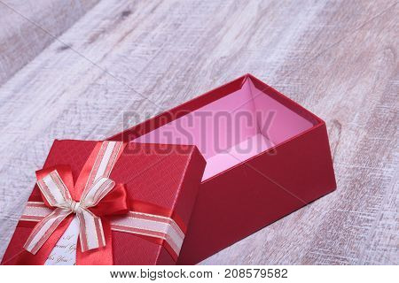 Open gift box isolated on the white background.