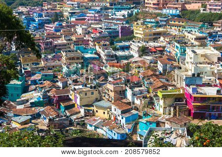 Indian city Ooty, Coonor, Nilgiris , Tamil Nadu Color roof