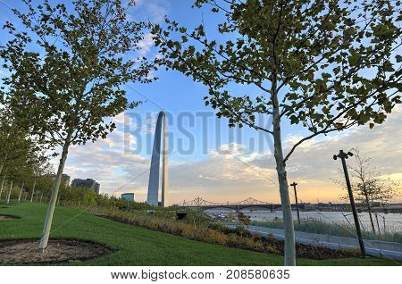 October 7, 2017 - St. Louis, Missouri - The Gateway Arch in St. Louis Missouri.