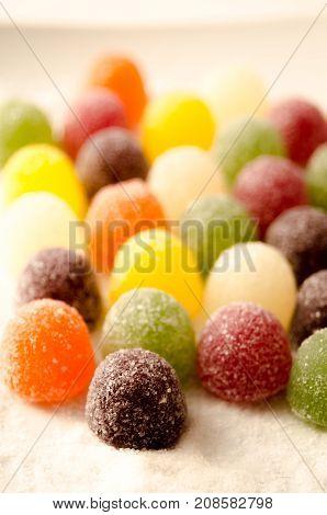 A Studio Photograph of American Hard Gum Sweets