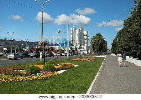 Kolomna Russia - August 9 2017: Kolomna Hotel On Blue Dramatic Sky In Kolomna Moscow Region.