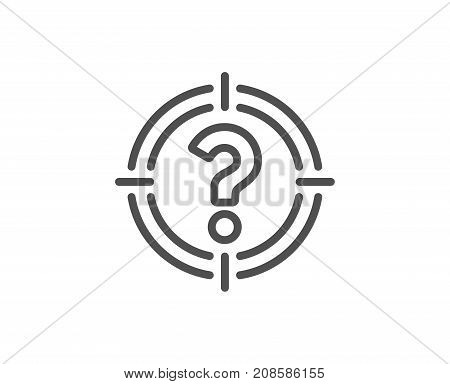 Target With Question Mark Line Icon.