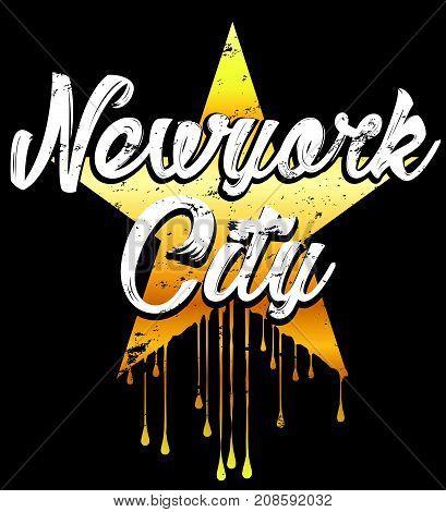 New york typography graphic design fashion style new art