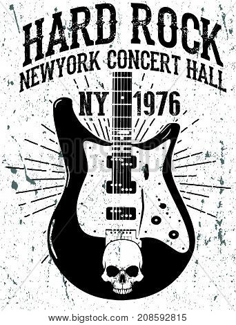 Rock poster vintage rock and roll typographic for t-shirt; tee design; poster; vector illustration