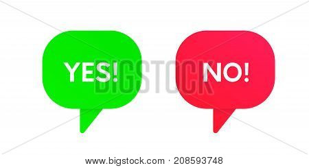 Yes And No Vector Icons. Approve And Reject Banners.