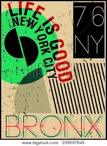 Newyork fashion tee typography graphic design fashion style
