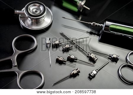 Instrumental surgical in operating room, conceptual image