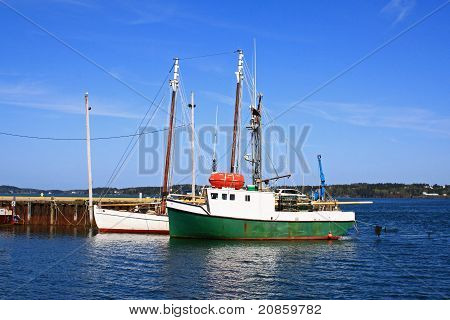 Fishing Boat in Maine Harbor