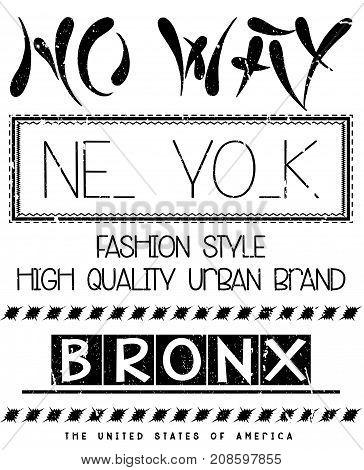 New york fashion tee typography graphic design fashion style