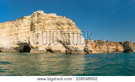 Cliffs at Marinha beach Algarve - Portugal.
