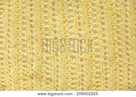 Yellow Knitted Fabric Texture