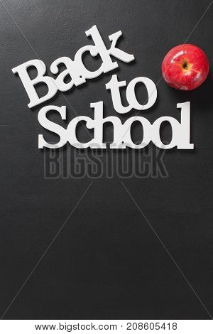 Volume White Letters Back To School Apple Concept