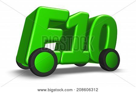 eco petrol e10 on wheels - 3d illustration