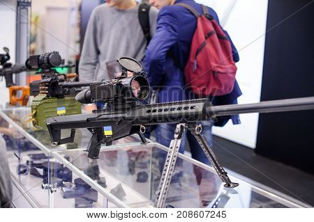 New Sniper Rifle With Thermal Imager At The Exhibition