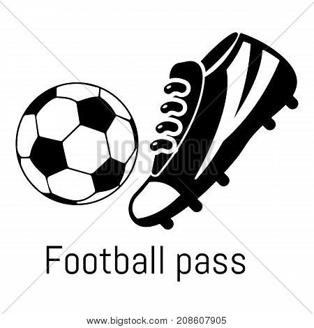 Football pass icon. Simple illustration of football pass vector icon for web